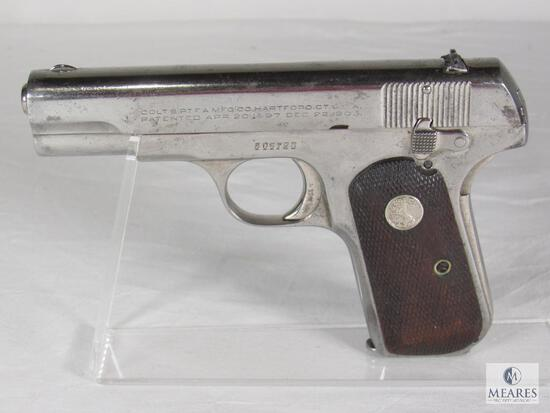 Colt 1903 Hammerless Pocket .32 Caliber Semi-Auto Pistol