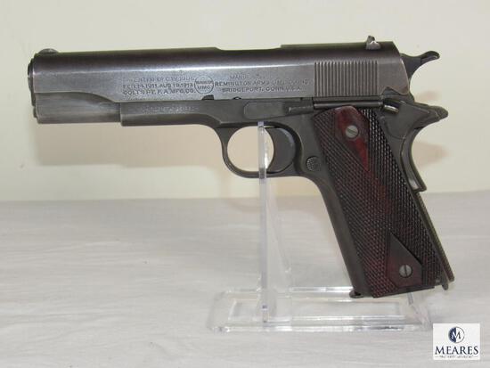 1917 US Army Colt Remington UMC 1911 .45 Commanding Officer Pistol with Colt Archive Letter
