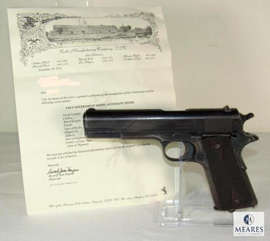 *RARE 2 DIGIT SERIAL COLLECTOR'S DREAM FIND* Colt 1911 .45 Semi-Auto Pistol w/ Archive