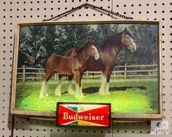 Vintage Budweiser Light Up Sign