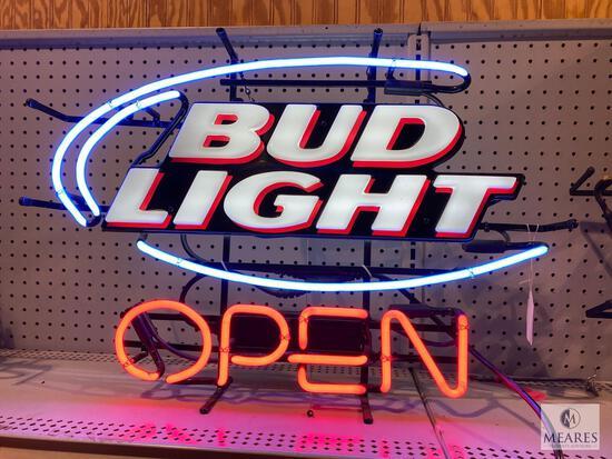 Bud Light Open Neon Sign