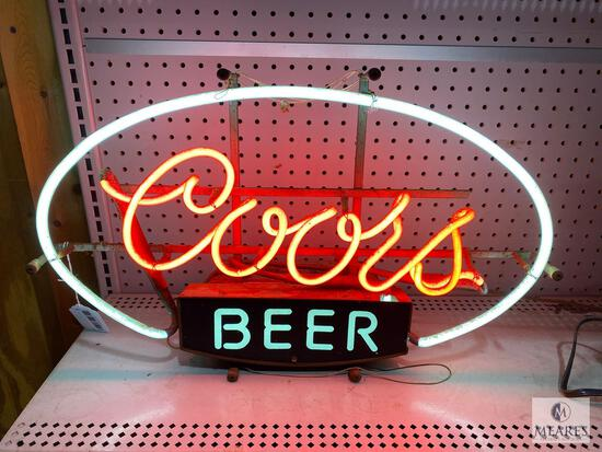Vintage 1983 Coors Beer Neon Sign