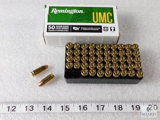 50 round Remington 9mm ammunition 115 grain FMJ