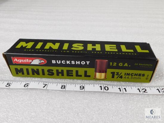 20 rounds Aguila .12 gauge buckshot mini shells - great for home defense
