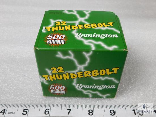 500 rounds Remington Thunderbolt .22 long rifle ammo, 40 grain bullet