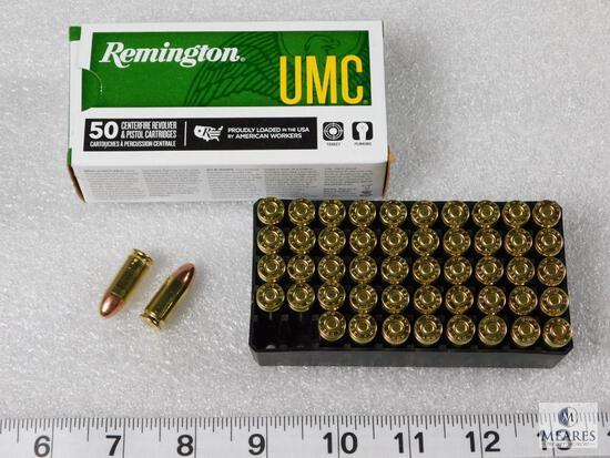 50 rounds Remington 9mm ammunition 115 grain FMJ