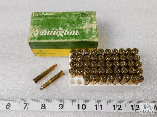 50 rounds Remington 22 Hornet ammo, 45 grain pointed soft point