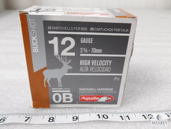 "25 rounds Aguila .12 gauge Buckshot #0 Buck 2 3/4"""