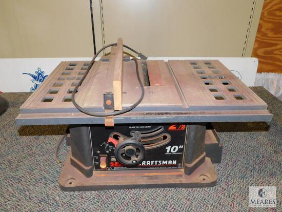 "Sears Craftsman 10"" Motorized Table Saw"