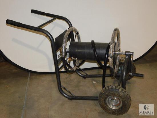 Heavy Duty Garden Hose Reel with Pneumatic Tires