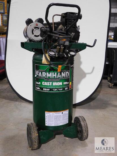 Farmhand Electric Portable Air Compressor 26 Gallon 5 HP 125 PSI Max
