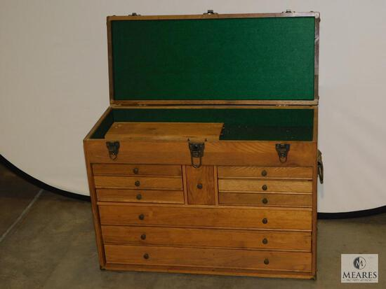 "Jewelers or Engineers Wooden Tool Box 26"" x 18"" x 11"""