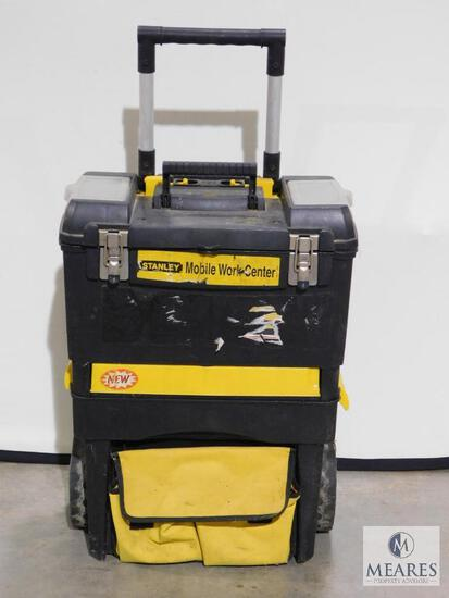 Stanley Mobile Work Center Rolling Toolbox with assorted tools