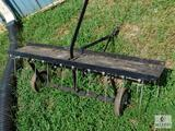 Pull behind Spike Aerator / Cultivator Rake approximately 42
