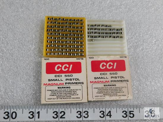 Lot approximately 137 CCI no 550 Small Magnum Pistol Primers