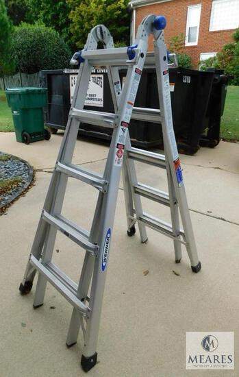 Werner 22-Foot Reach Aluminum Telescoping Multi-Position Ladder with 300 lbs. Load Capacity
