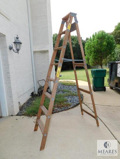 Wooden A-Frame 8' Ladder