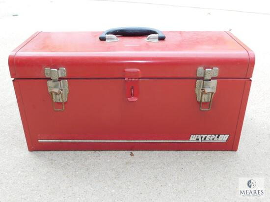 Metal Waterloo Tool Box with Storage Tray