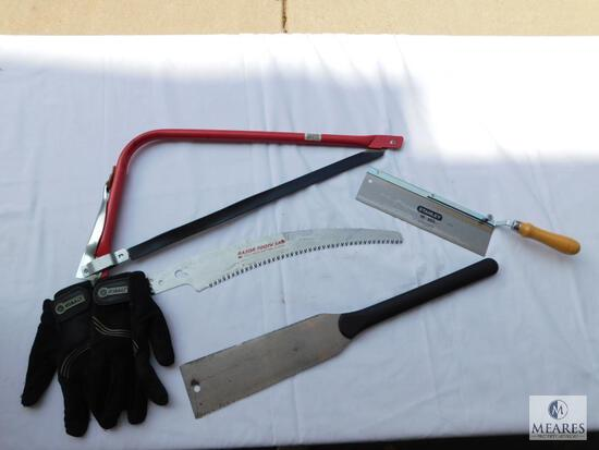 Lot of Saws, Saw Blade, and Kobalt Work Gloves