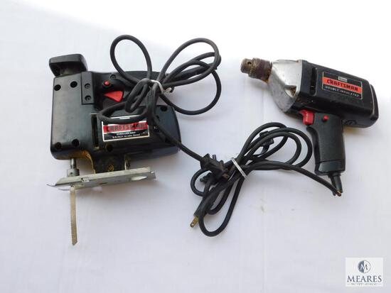 "Craftsman Scroller Saw and 3/8"" Electric Drill"