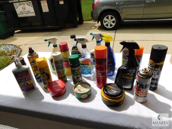 Automotive Cleaning Supplies - Wax, Engine Degreaser, Tire Foam, Glass Cleaner, and More