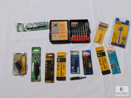 Great Lot of New-in-Package Drill Bits - Includes Craftsman, Dewalt, Kobalt, and Ryobi