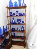 Wood 6-Shelf Display Rack with Turned Spindles