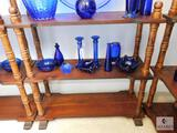 Wood Turned Spindle 3-Tier Display Shelf