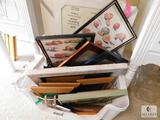 Lot of Assorted Picture Frames, Picture Board, Framed Prints and more
