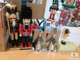Lot of Christmas Decorations - Nutcrackers, Tree Ornaments, and more