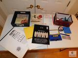 Lot of Art Supplies - Calligraphy Pens, Art Paper, and How-to Books