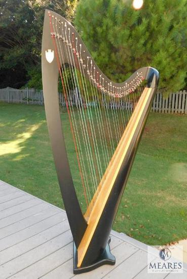 Lyon & Healy Troubadour IV #8107 36-String Harp with Travel Cover