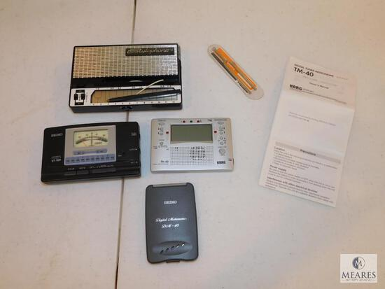 Lot of Electric Music Tuners Seiko, Stylophone and Korg