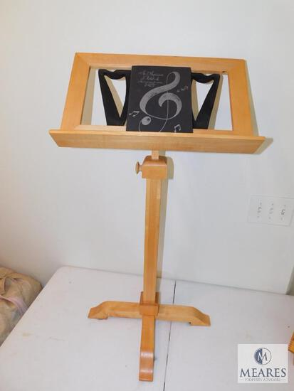 Wood Music Stand with Musician's Notebook