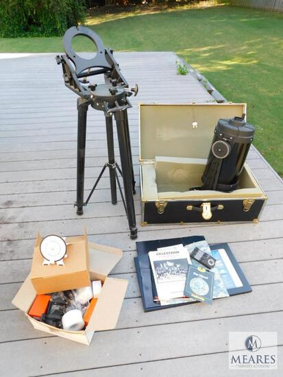 Celestron Telescope with Tripod, Case, Lens & Booklets