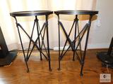 Lot of Two Pottery Barn Round Side Tables