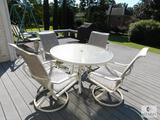 Five-piece Outdoor Table and Chair Set with Glass top