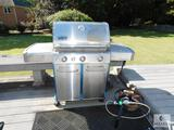 Weber Genesis Gas Grill Stainless with Propane tank and Cover
