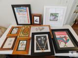 Lot of 10 Assorted Framed Prints