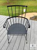 Black Iron Arm Chair