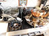 Lot of Pots and Pans with Wok, Canisters and more (some Calphalon included)
