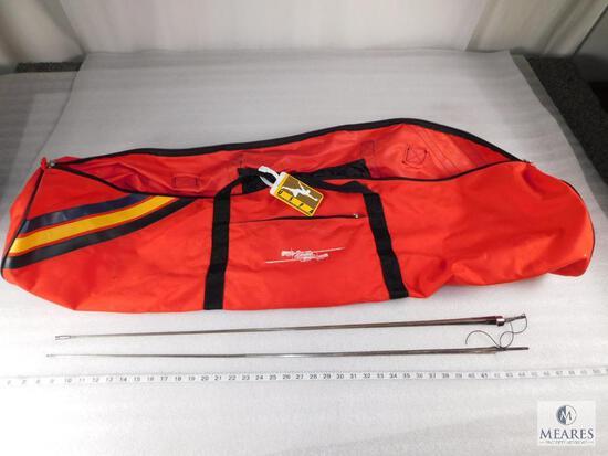 Lot of 2 Fencing Foil Blades and Triplette Competition Foil Storage Bag