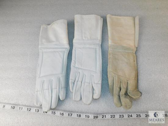 One Pair of Post Sport Leather Fencing Gloves - Size 8-1/2 and (1) Extra Right Hand Glove