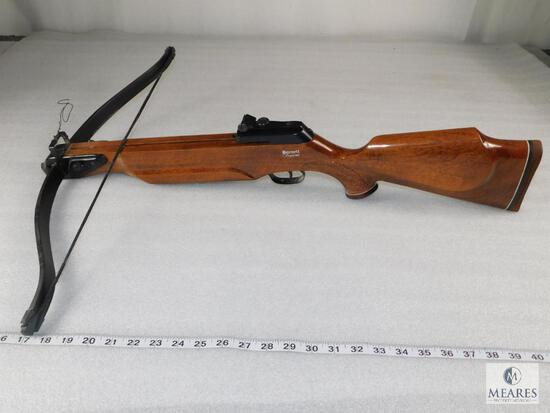Vintage Barnett Supreme Crossbow - Checkered Walnut Stock, Safety & Adjustable Iron Sights