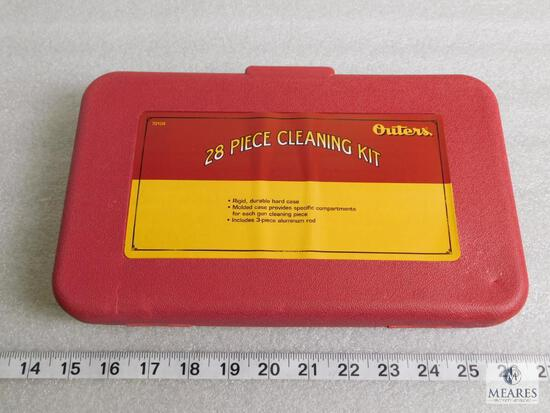 New 28 piece Outers gun cleaning kit .22 caliber to 12 gauge shotgun