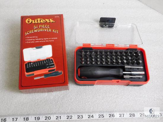 New 51 piece Outers gunsmith tool set with fitted case