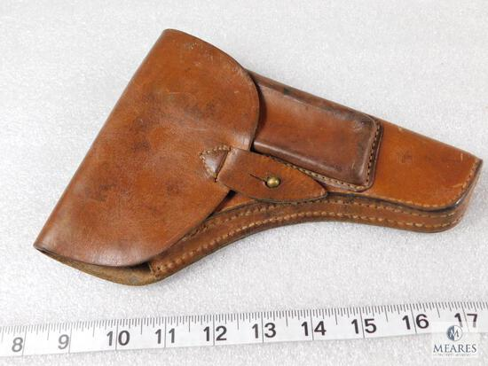 Versatile European flap holster with cleaning rod