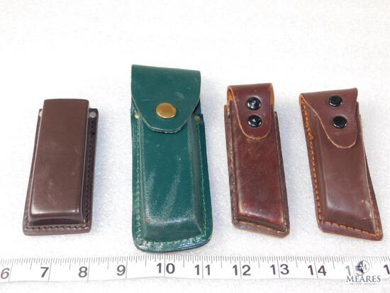 Qty 4 - leather ammo or knife pouche