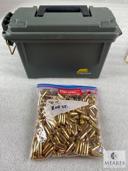 Ammo Box with 200 Rounds of 9mm Aguila 115-grain Ball Ammunition - Bulk Pack - New Production