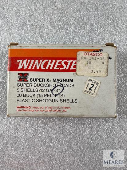 5 Rounds of Winchester Super X-Magnum Buckshot - 3-inch 00 Buckshot - 15 Pellets